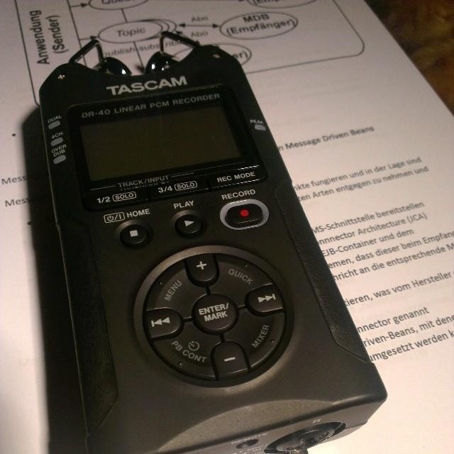 Weihnachtsgeschenk Tascam DR-40